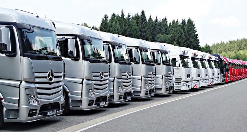 Flotte für Fahrzeugwerbung