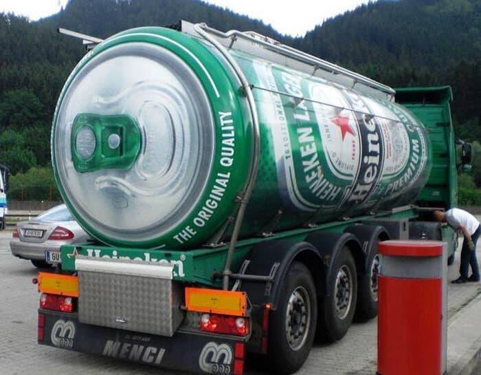 truckvertising heineken