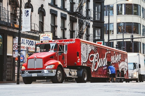 Lastwagen Werbung